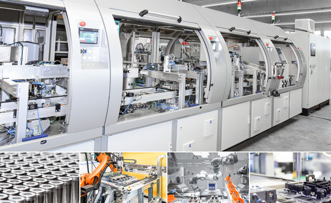 Assembly lines for electrical components